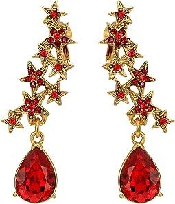 Oscar de la Renta Star and Teardrop C Earrings