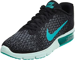 Nike Women's Air Max Sequent 2 Running Shoe Black/Clear Jade/Anthracite/Cool Grey Size 6.5 M US
