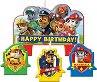 amscan Party Centre Paw Patrol Birthday Candle Set, Multi Color, AM-171462