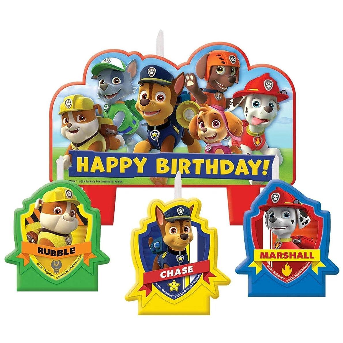 Paw Patrol Birthday Candle Set
