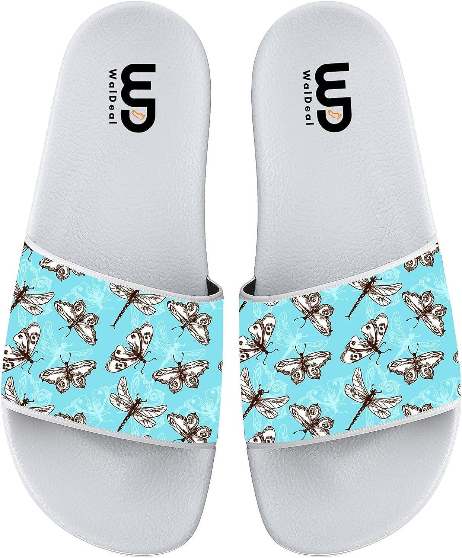 BVFCKMO Butterflies and Dragonflies Fashion Comfortable Flip Flop Big Screen Slip On Slide Sandal