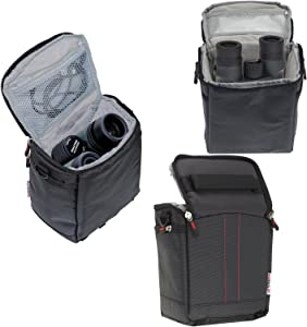 Navitech Black Protective Portable Handheld Binocular Case and Travel ...