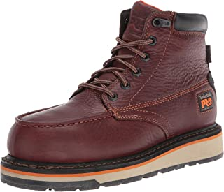 """Timberland PRO Men's Gridworks 6"""" Alloy Safety Toe Waterproof Industrial Boot, Brown"""