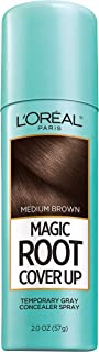 L'Oreal Paris Magic Root Cover Up Gray Concealer Spray, Medium Brown, 2 Oz(Packaging May Vary)