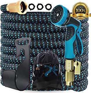 Gardguard 50ft Expandable Garden Hose: Water Hose with 9 Function Nozzle and Durable..
