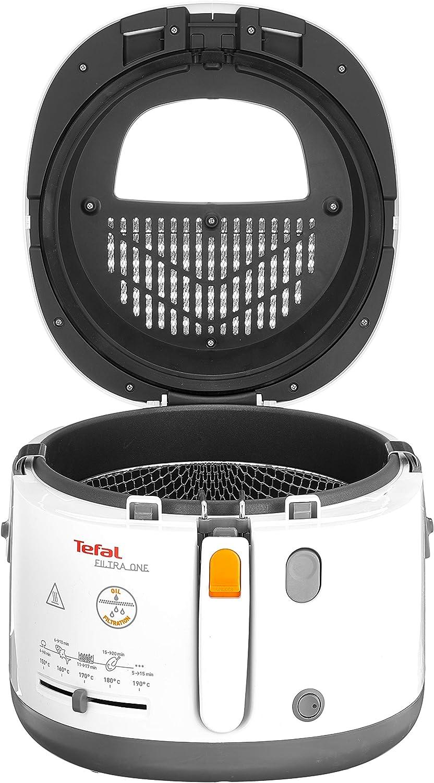 Tefal FF1631 One Filtra friteuse, 1.900 watt, warmte-geïsoleerd, 1,2 kg inhoud, wit/antraciet wit