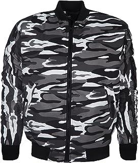 Kami Denim Brand Mens Camouflage Bomber Jacket Military Army MA1 Harrington Coat