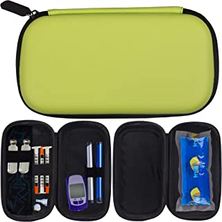 TravelRX Insulated Insulin TravelCase | Portable Diabetic SupplyOrganizer | Insulin CoolerKeeps Insulin Pens and Diabetic SuppliesCold | Shock-Proof EVA and Leather Soft Exterior | First AidKit