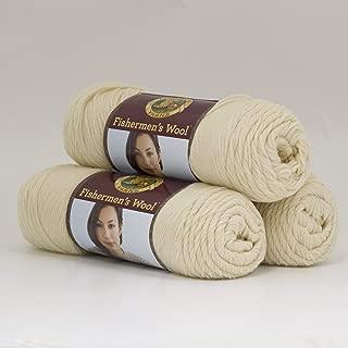 (3 Pack) Lion Brand Yarn 150-098 Fishermen's Wool, Natural