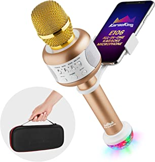 KaraoKing Wireless Compatible With Bluetooth Karaoke Microphone – Portable Karaoke..