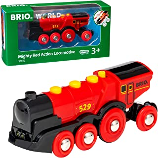 BRIO 33592 Mighty Action Locomotive, Red
