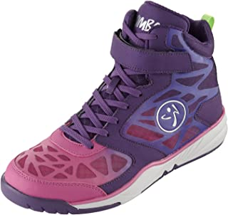 Zumba Women's Energy Boom High Top Dance Workout Sneakers with Enhanced Comfort Support