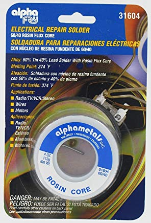 Alpha Fry AT-31604 60-40 Rosin Core Solder (4 Ounces) (