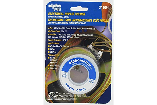 Alpha Fry AT-31604 60-40 Rosin Core Solder (4 Ounces) (Limited Edition)