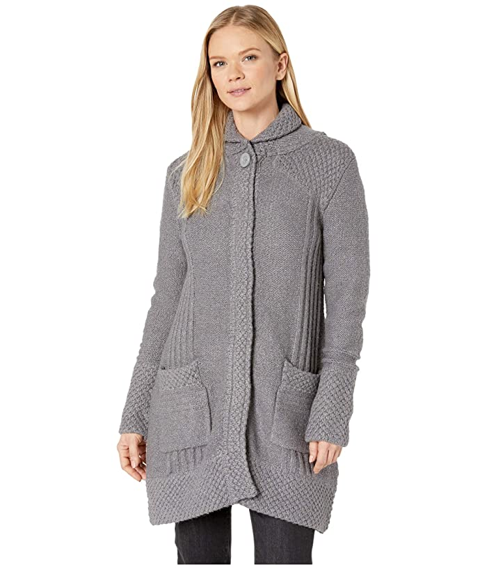 Prana Elsin Sweater Coat (Gravel) Women