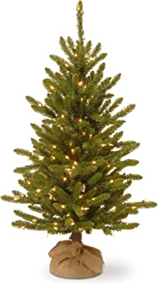 National Tree 4 Foot Kensington Burlap Tree with 150 Clear Lights (KNT3-306-40)