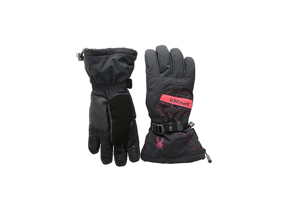 Spyder Overweb Gore-Tex(r) Ski Glove (Black/Red 1) Over-Mits Gloves
