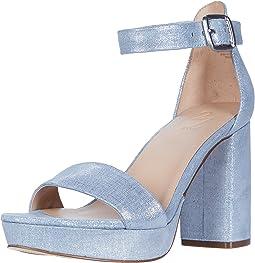 Blue Metallic Linen Leather