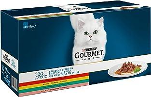 Purina Gourmet Mokra Karma dla Dorosłych Kotów Mix Smaków, 60 x 85 g