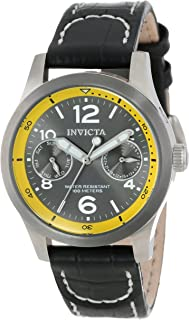 Women's 14143 I-Force Charcoal Dial Black Leather Watch