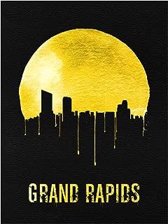 Trademark Fine Art Grand Rapids Skyline Yellow by Naxart, 18x24, Multiple