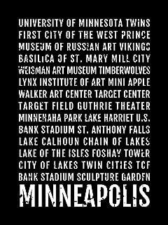 Minneapolis Print, Minneapolis Subway Sign Poster, Minnesota Wall Art, Decor, Canvas, Gift, Bus Scroll, Typography, Minimal, Custom
