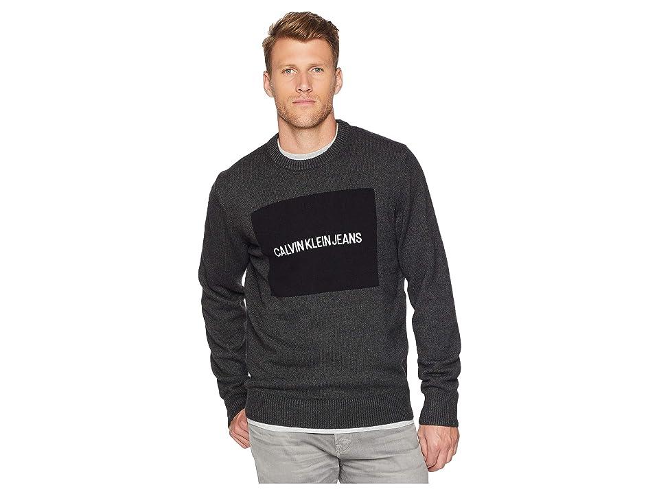 Calvin Klein Jeans Logo Sweater (Dark Charcoal Heather) Men