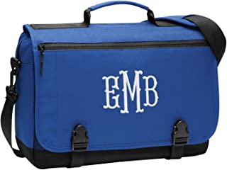 Personalized Customized Messenger Laptop Briefcase for Men & Women - Add Your Embroidered Monogram