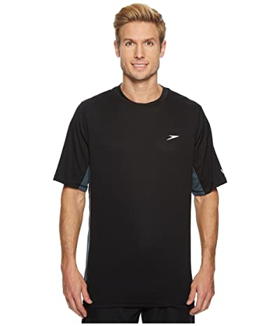 Speedo Longview Swim Tee (Black/Black) Men