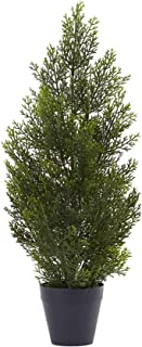 Nearly Natural 2ft. Mini Cedar Pine (Indoor/Outdoor) Silk Trees Green