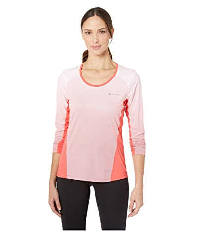 Columbia Solar Chilltm 2.0 Long Sleeve Shirt (Red Coral) Women