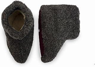 Men's Dark Grey Black Merino Wool Boots Warm Cozy Slippers Moccasins CHUNI Grey - UK Size: 3, 4, 5, 6, 7, 8, 9, 10, 11, 12...
