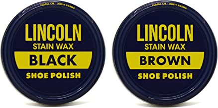 Lincoln Stain Wax Shoe Polish (Black/Brown)
