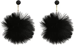 Chic and Cushy Linear Pouf Earrings