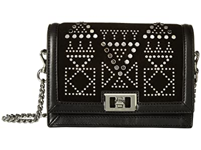 Rebecca Minkoff Dylan Small Crossbody w/ Studs (Black) Cross Body Handbags
