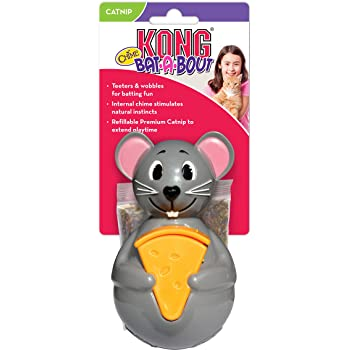 KONG Bat A Bout Chime Cat Toy, Mouse