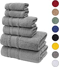 Qute Home Spa & Hotel Towels 6 Piece Towel Set, 2 Bath Towels, 2 Hand Towels, and 2..