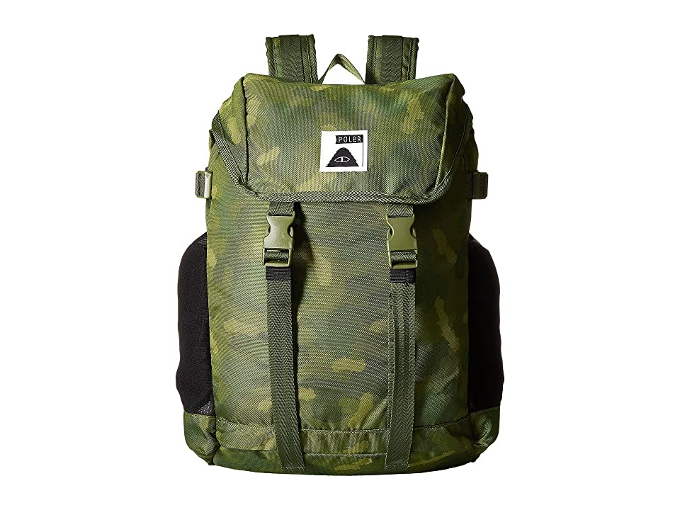 Poler Rucksack 3.0 Backpack (Green Furry Camo) Backpack Bags