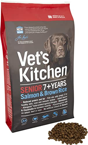 Vet's Kitchen Salmon and Brown Rice Senior Complete Dog Food 7.5kg product image