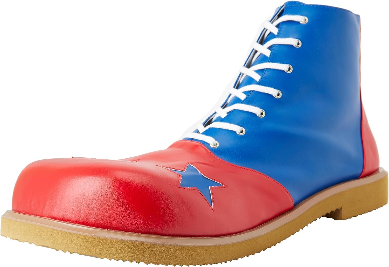 Funtasma by Pleaser Men's Halloween Clown-02,bluee Red,one S (US Men's 8-9 M) IZE