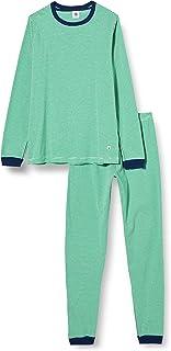 Petit Bateau 5663801 Pyjama Milleraies Vert Petit Garçon en Côte