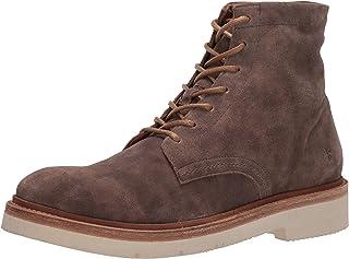 حذاء برقبة طويلة للرجال من Frye مزود برباط ولونه رمادي باهت 9 M US