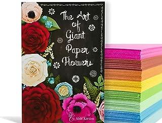The Art of Giant Paper Flowers Hardback Book & Template Workbook