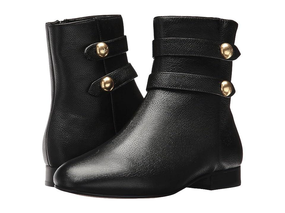 MICHAEL Michael Kors Maisie Flat Bootie (Black Tumbled Leather/Nappa) Women