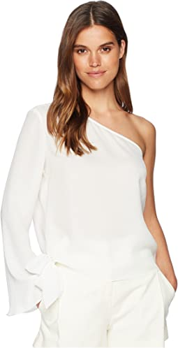 Off the Shoulder Blouse with Flared Sleeve