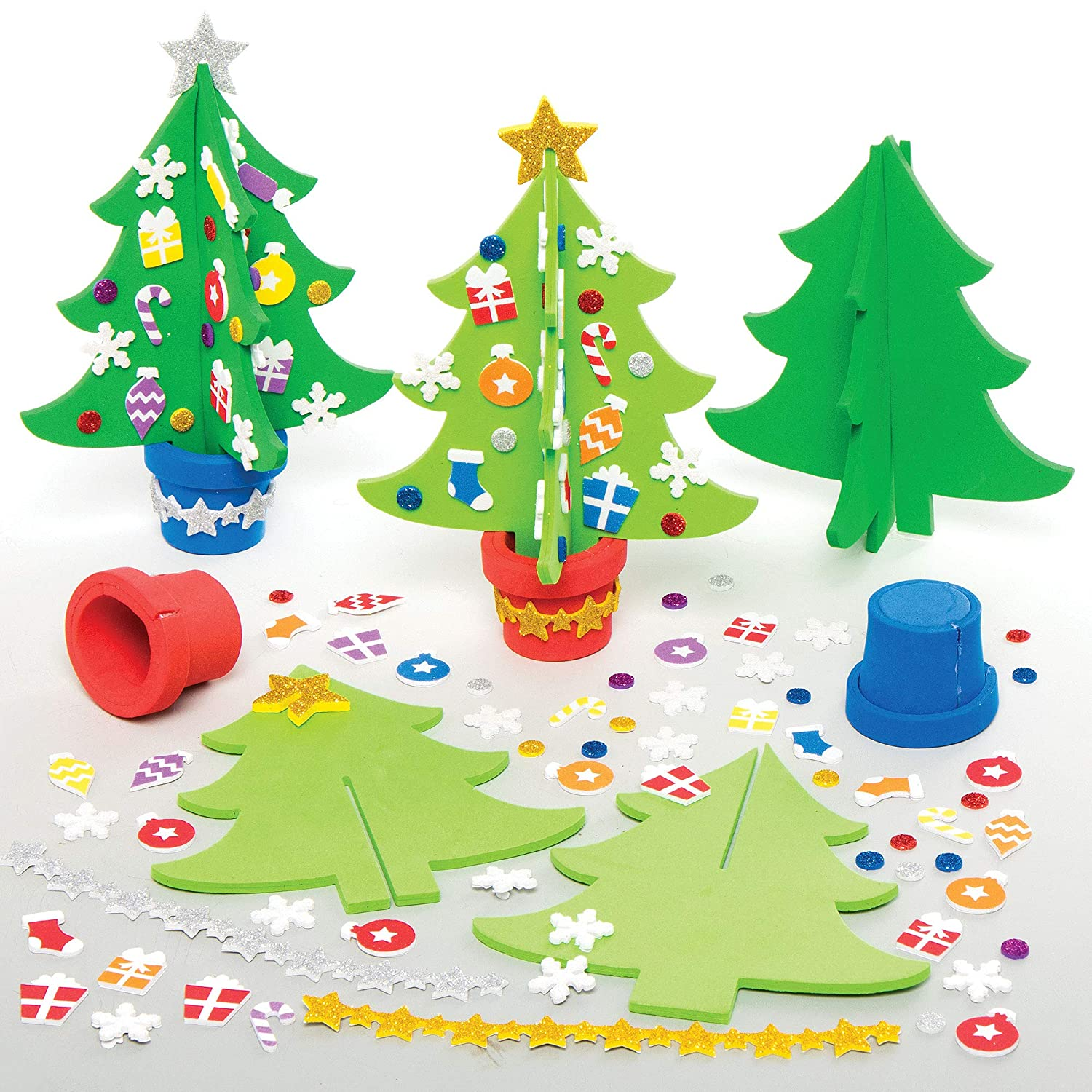 Baker Max 58% OFF Ross AX427 Christmas Tree Craft Max 68% OFF of 4 Pack Kits - Festive