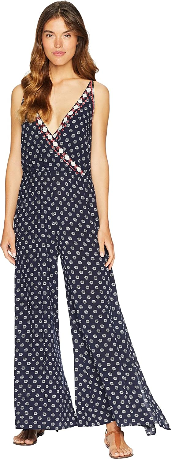 1.STATE Women's Spaghetti Strap Jumpsuit w Embroidery