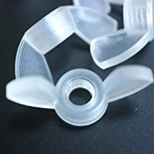 Pack of 20 Transparent Clear Plastic Acrylic M6 Butterfly, Wing Nuts-Acrylic Plastic Screws, 15/64