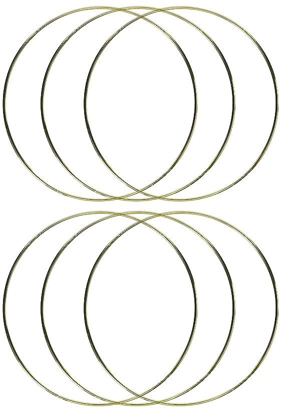 6-Pack - Darice Gold Metal Ring, 10-Inch