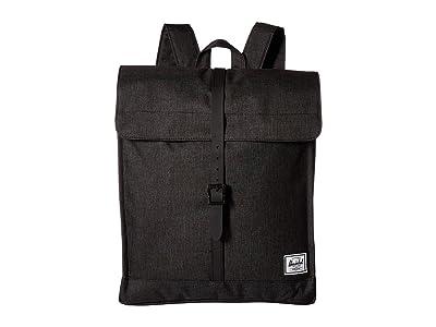 Herschel Supply Co. City Mid-Volume (Black Crosshatch/Black Rubber) Backpack Bags